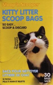 Packaging for Stoop'n Scooper Kitty Litter Scoop Bags