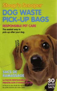 Packaging for Stoop'n Scooper Dog Waste Pick-Up Bags