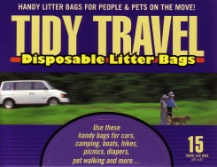 Packaging for Tidy Travel Disposable Litter Bags